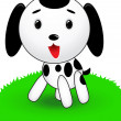 Funny puppy vector - Stock Vector