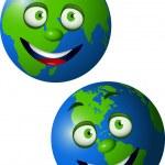 Earth cartoon — Stock Vector