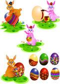Ester bunny — Stock Vector