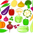 Vegetable illustration - Vettoriali Stock