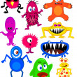 Stock Vector: Monster cartoon