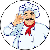 Chef sonriente — Vector de stock
