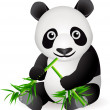 Royalty-Free Stock Vector Image: Funny panda cartoon