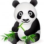 Funny panda cartoon — Stock Vector #5560144