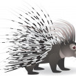 Cartoon porcupine - Stock Vector