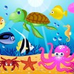 Sea life illustration — Stock Vector #5560215