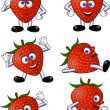 Royalty-Free Stock Vector Image: Strawberry cartoon character