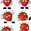 Strawberry cartoon character — Stock Vector #5561042
