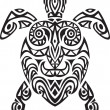 Turtle tribal tattoo — Stock Vector #5561760