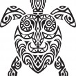 Stock Vector: Turtle tribal tattoo