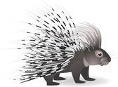 Cartoon porcupine — Stock Vector