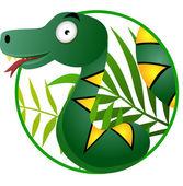 Snake cartoon — Stock Vector