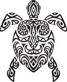 Turtle tribal tattoo — Stock Vector