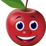 Apple cartoon character — Stock Vector #5587755