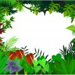 Tropical forest background — Stock Vector