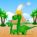 Dinosaur cartoon — Stock Vector