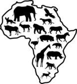 Wild animal silhouette — Stock Vector