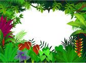 Fond de la forêt tropicale — Vecteur