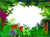 Tropical forest background — Cтоковый вектор