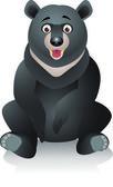 Black bear illustration — Stock Vector