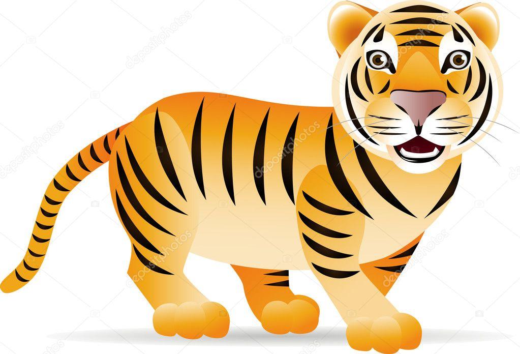Cartone animato tigre — vettoriali stock dagadu