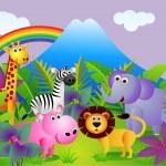 Animais dos desenhos animados — Vetorial Stock
