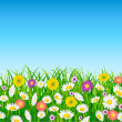 Flower field background — Stock Vector