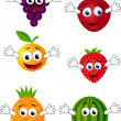 Funny fruit character — Stockvectorbeeld