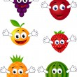 Stock Vector: Funny fruit character
