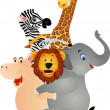 Funny animal cartoon - Imagen vectorial