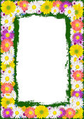 Flower frame background — Stock Vector