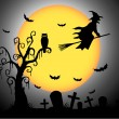 Halloween night — Image vectorielle