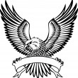 Eagle with emblem - Stock vektor
