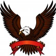 Eagle with emblem — Stock Vector