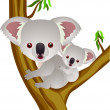 Koala cartoon - Stock Vector