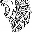 Stock Vector: Lion tattoo
