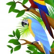 Parrot bird in the jungle — Stock Vector #5711693