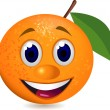 Stock Vector: Orange fruit character