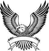 Eagle with emblem — Vecteur