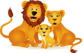Lion family — Stock Vector