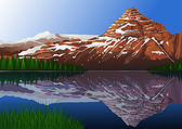 Beautiful mountain background — Cтоковый вектор