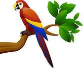 Papagei vogel im dschungel — Stockvektor