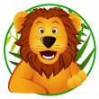 Cute lion cartoon — Stock Vector
