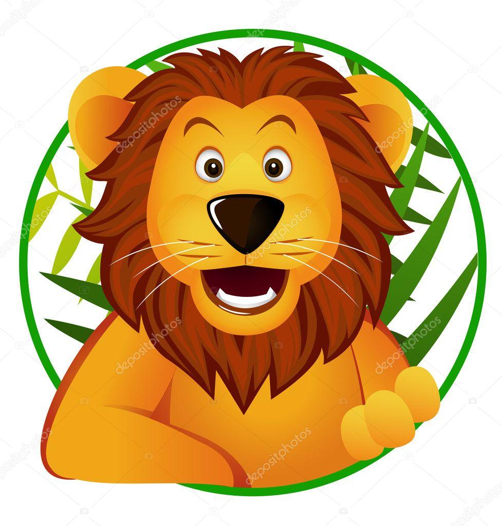 可爱狮子卡通 — 图库矢量图像08