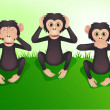 See no evil, hear no evil, speak no evil — Stock Vector