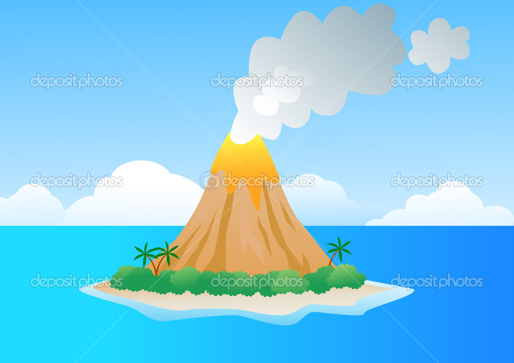 volcano island stock vector  u00a9 dagadu 5746966 clipart animations that move clipart animation for breathing yoga pose