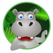 Hippo cartoon — Image vectorielle