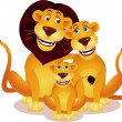 Lion family - Vettoriali Stock