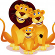 Lion family - Stock Vector