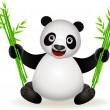 Panda cartoon — Stock Vector